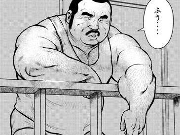 【親父漫画】中年親父がベランダに出て向かいの部屋の親父オナニーを覗く!