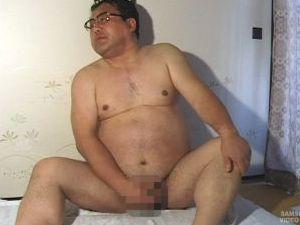 54歳166cm95kg、太鼓腹、巨根のノンケ父さんのハメ撮りオナニー!