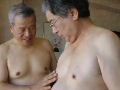 【熟年親父動画】優しげな褌親父の濃厚アナルセックス!