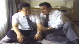 【親父ゲイ動画】太目の眼鏡親父リーマン同士でみっちりエロ交尾
